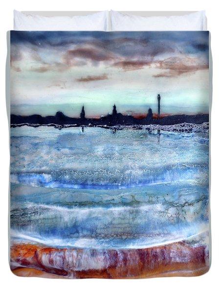 Provincetown Skyline 1 Duvet Cover