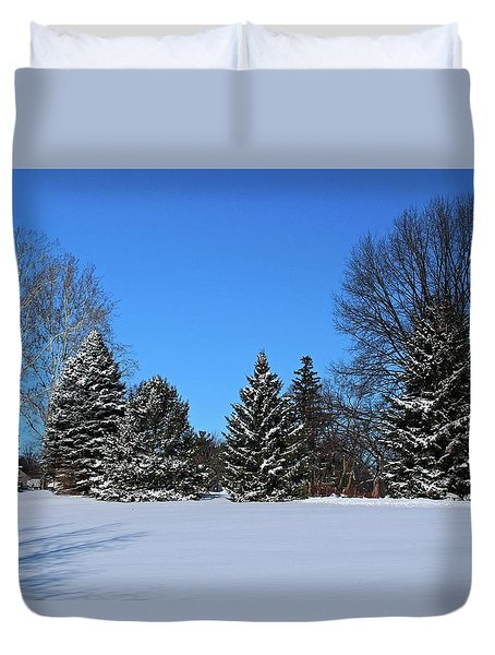 Provincial Pines Duvet Cover