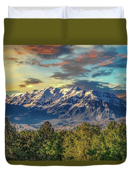 Provo Peaks Duvet Cover