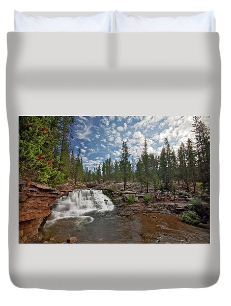 Duvet Cover featuring the photograph Provo River Falls by Wesley Aston