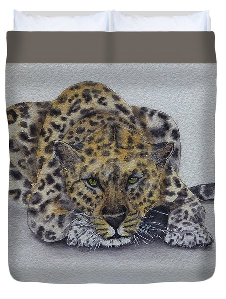 Prowling Leopard Duvet Cover