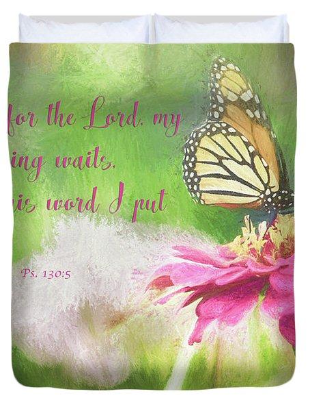 Psalm 130 Duvet Cover