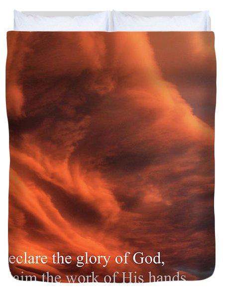 Psalm 19-1 Duvet Cover