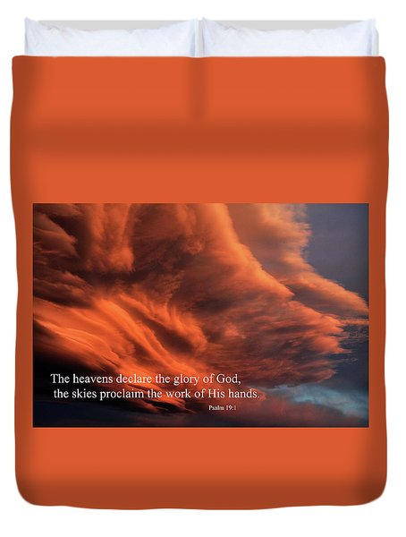 Psalm 19-1 Duvet Cover