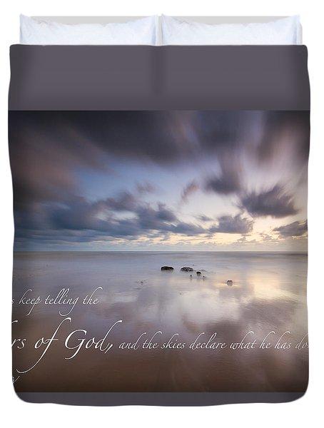 Psalm 19 1 Duvet Cover