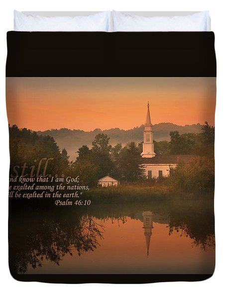 Psalm 46.10 Duvet Cover