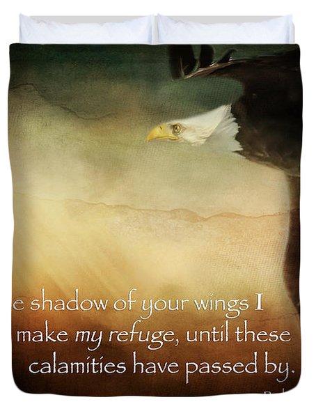 Psalm 57 Duvet Cover