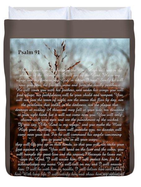 Psalm 91 Duvet Cover