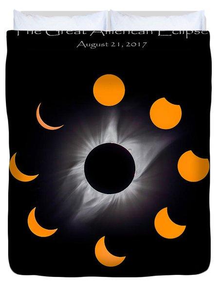 Psalm Nineteen Solar Eclipse Duvet Cover
