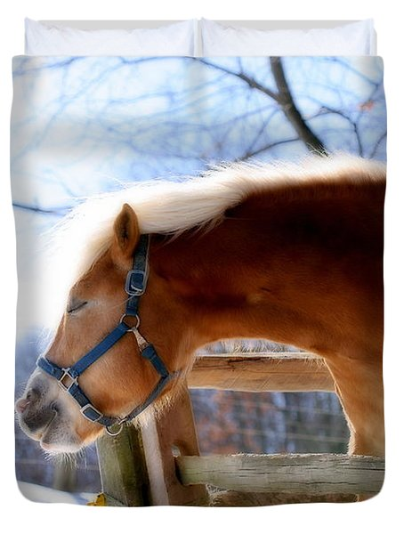 Duvet Cover featuring the photograph Pssssssh.....it's Not Cold by Angela Rath