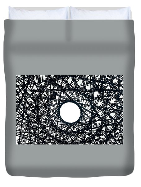 Psychedelic Concentric Circle Duvet Cover