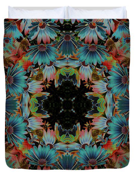 Psychedelic Daisies Duvet Cover