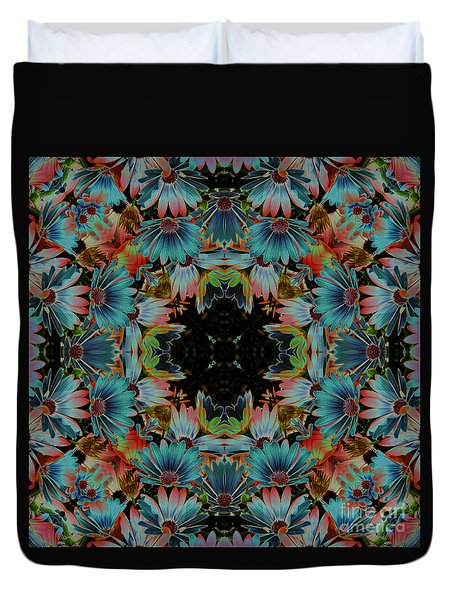 Psychedelic Daisies Duvet Cover by Smilin Eyes  Treasures