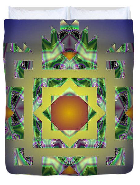 Psychedelic Mandala 002 A Duvet Cover