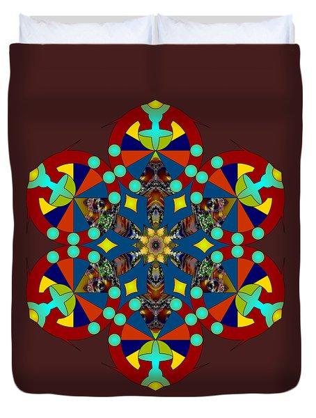 Psychedelic Mandala 007 A Duvet Cover