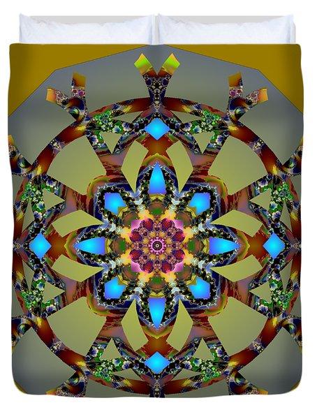 Psychedelic Mandala 010 B Duvet Cover