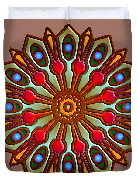 Psychedelic Mandala 012 A Duvet Cover