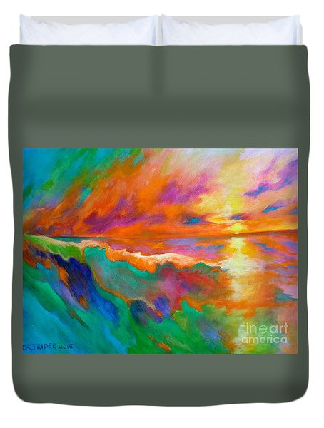 Psychedelic Sea Duvet Cover