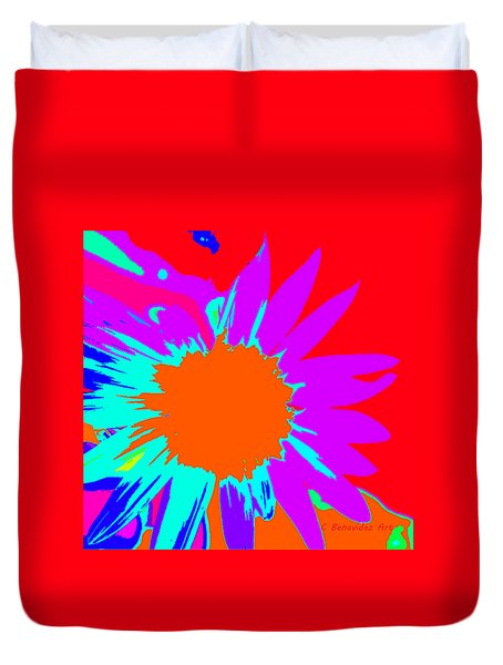 Psychedelic Sunflower Duvet Cover
