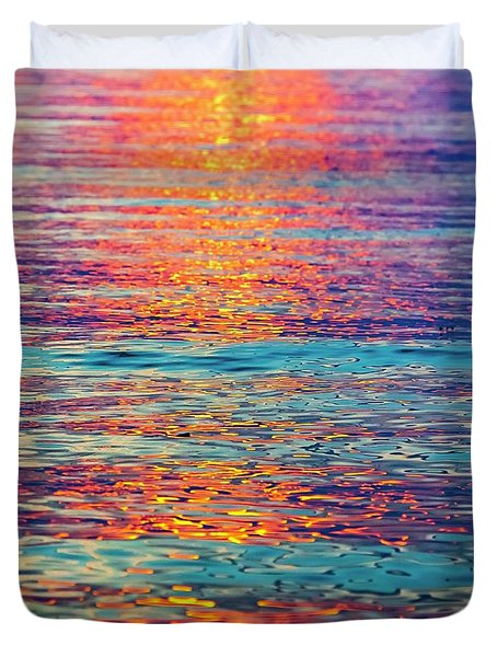 Psychedelic Sunset Duvet Cover