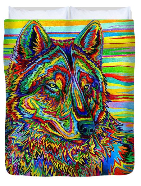 Psychedelic Wolf Duvet Cover