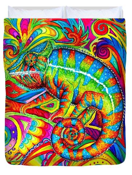 Psychedelizard Duvet Cover