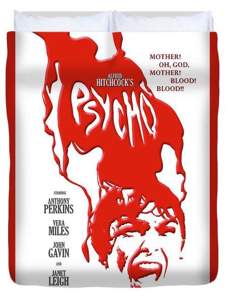Psycho Duvet Cover by Ron Regalado