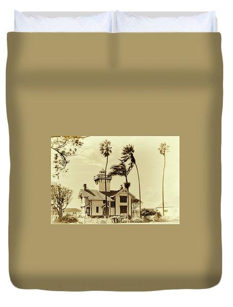 Pt. Fermin Lighthouse Duvet Cover