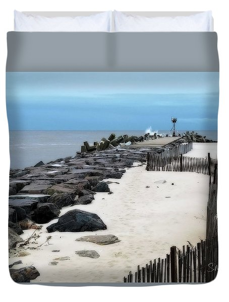 Pt. Pleasant Jetty Duvet Cover