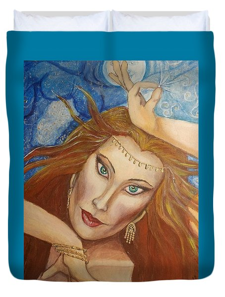 Ptraci Dancing On The Disc Duvet Cover