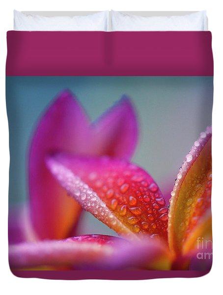 Duvet Cover featuring the photograph Pua Melia Ke Aloha Hawaii  by Sharon Mau