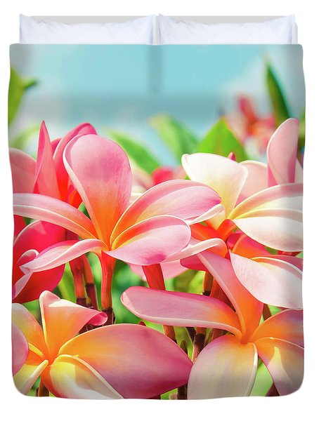 Duvet Cover featuring the photograph Pua Melia Ke Aloha Maui by Sharon Mau