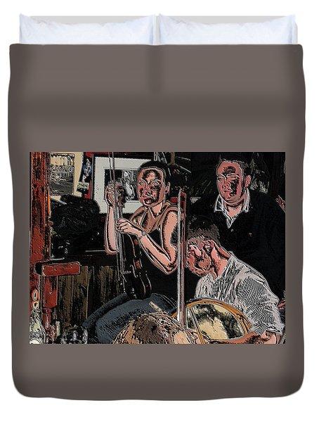 Pub Scene Three Duvet Cover by Dave Luebbert