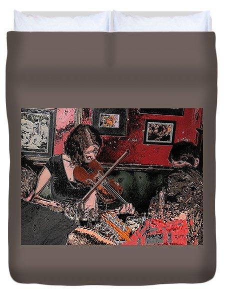 Pub Scene Two Duvet Cover by Dave Luebbert