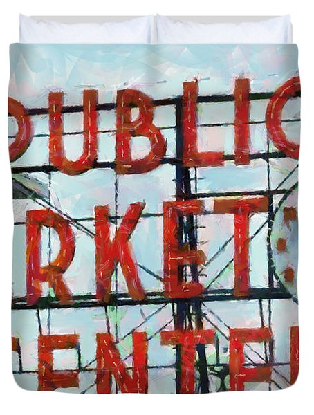 Public Market Center Duvet Cover