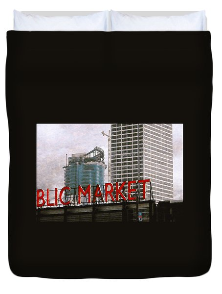 Public Market Duvet Cover by David Blank