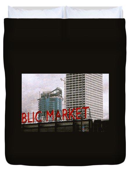 Public Market Duvet Cover