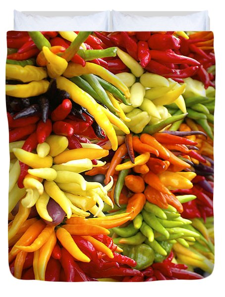 Public Market Peppers Duvet Cover