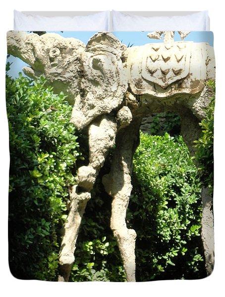 Pubol Spain Gala Castle Garden Duvet Cover