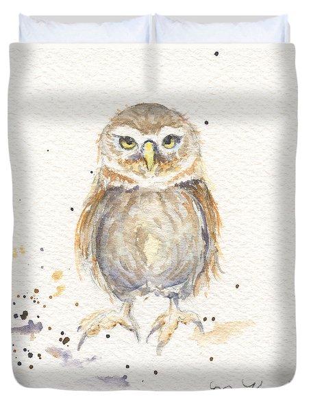 Puck - Little Owl Duvet Cover