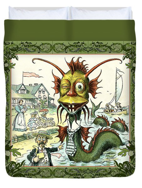 Card Puck Serpent Duvet Cover
