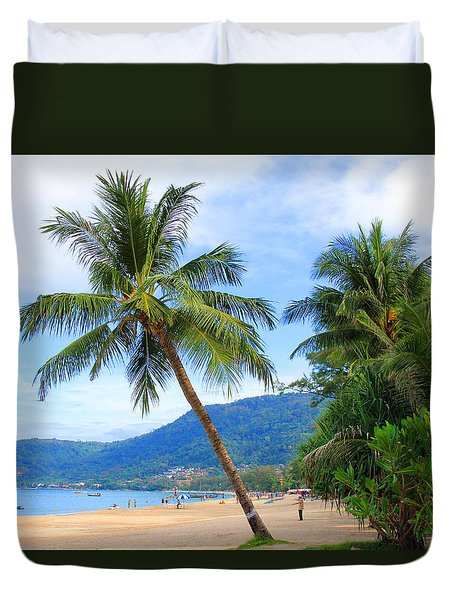 Phuket Patong Beach Duvet Cover by Mark Ashkenazi