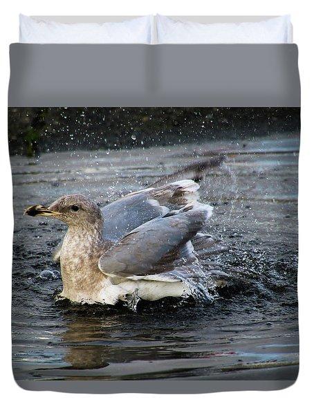 Puddle Bath Duvet Cover