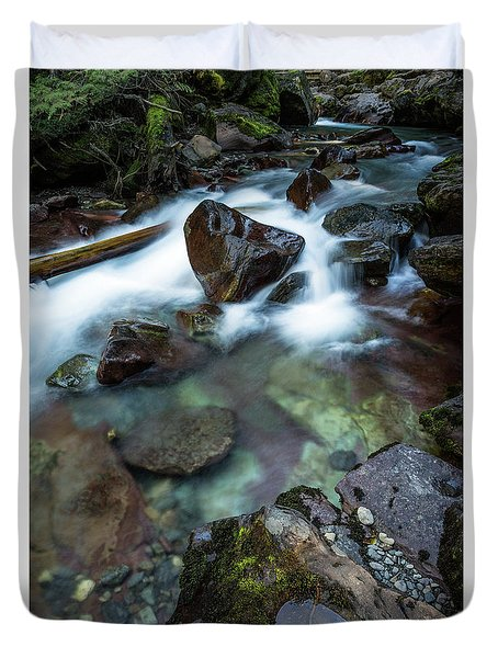 Puddle By The Creek Duvet Cover