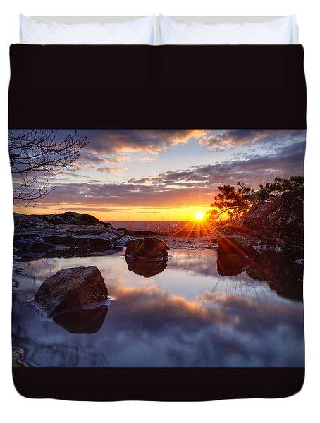 Puddle Paradise Duvet Cover by Craig Szymanski