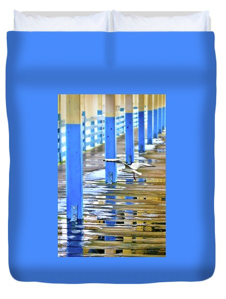 Duvet Cover featuring the photograph Puddles by Diana Angstadt