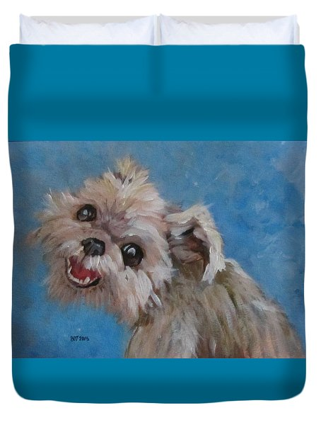 Pudgy Smiles Duvet Cover by Barbara O'Toole