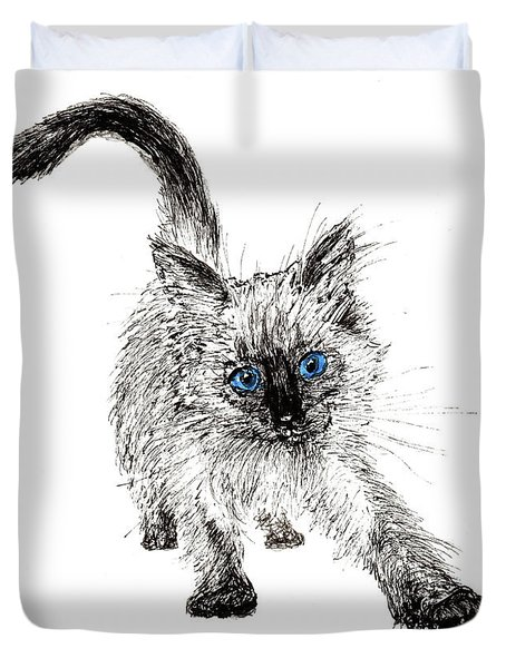 Pudsquiz Belina On The Prowl  Duvet Cover