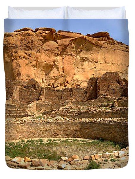 Duvet Cover featuring the photograph Pueblo Bonito Kiva Ruins by Adam Jewell