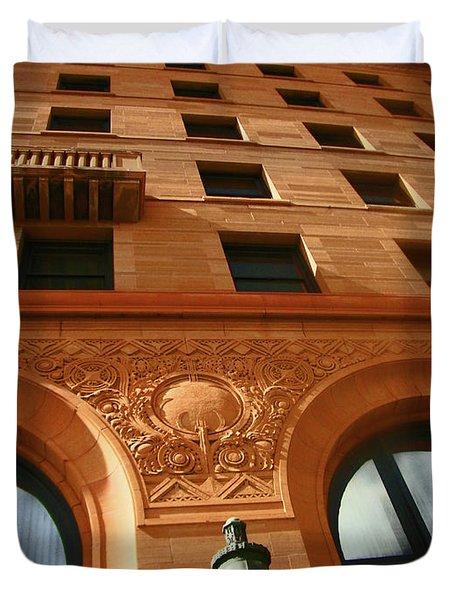 Pueblo Downtown Thatcher Building 2 Duvet Cover by Lenore Senior